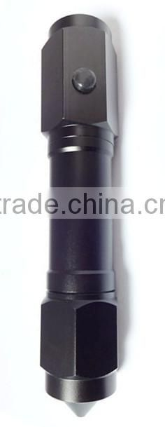 GS-8087A aluminium mental flashlight functional laser flashlight torch with knife and hammer