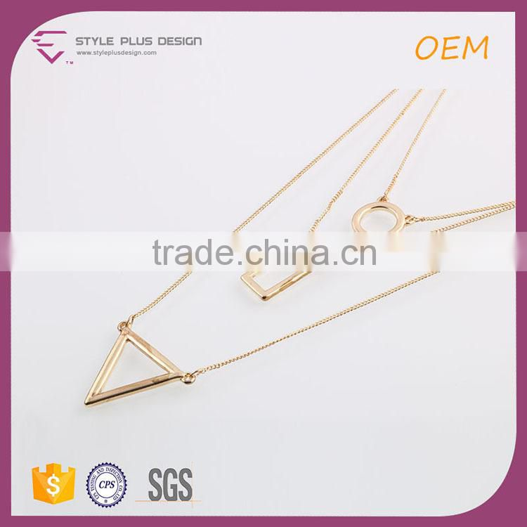 N72433I01 STYLE PLUS layered necklace strand & string necklaces string necklace with gold plating pendant for women