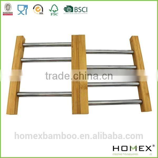Bamboo Expandable Coaster/Tableware Coaster/Extensible Trivet/Homex-FSC/BSCI Factory