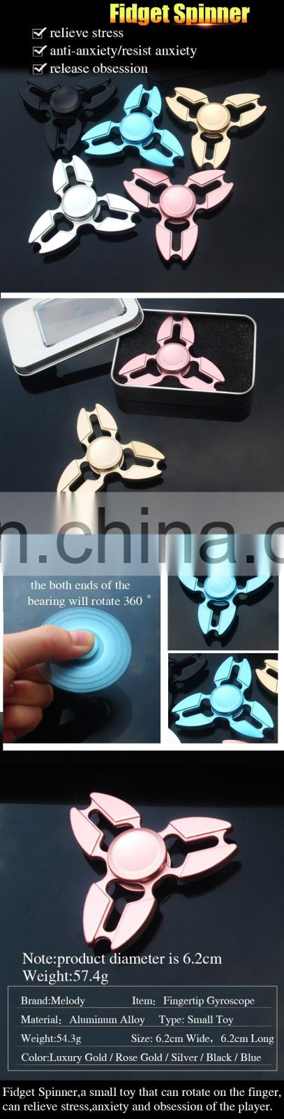 Hot Selling New Design Fidget Spinner,Factory Supply,Small Hand Toy