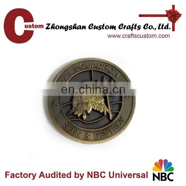 Maritime patrol 3D metal coin antique brass cheap custom coin