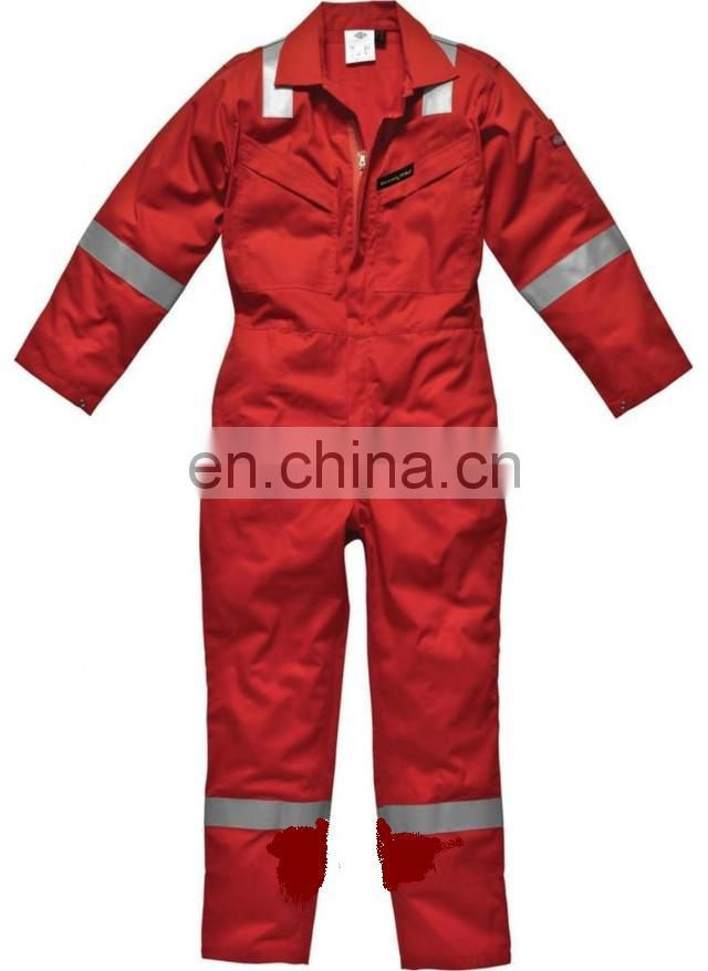 high visibility safety red work coverall