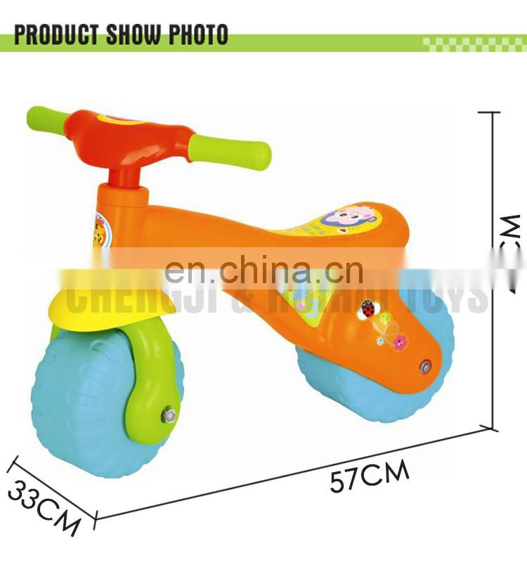 Mini plastic ride on sliding powered bike toy kids no battery car