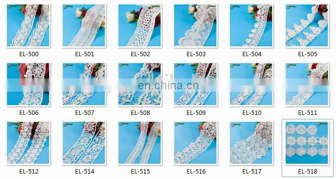 Colorful lace fabric for cloth Guangzhou fashion cotton braided lace wigs