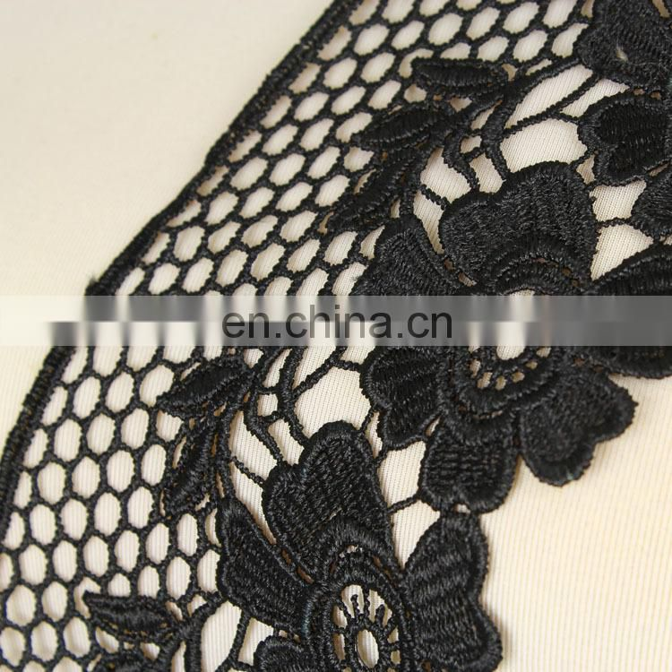 Magentic black flower patterns various kinds of lace