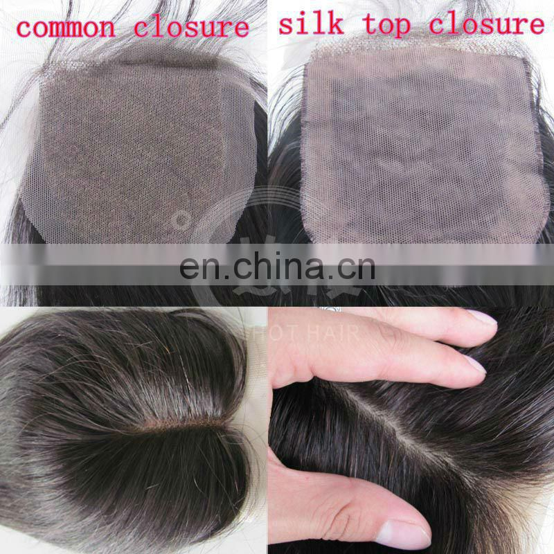 alibaba china threee part middle parting silk lace closures human hair wig