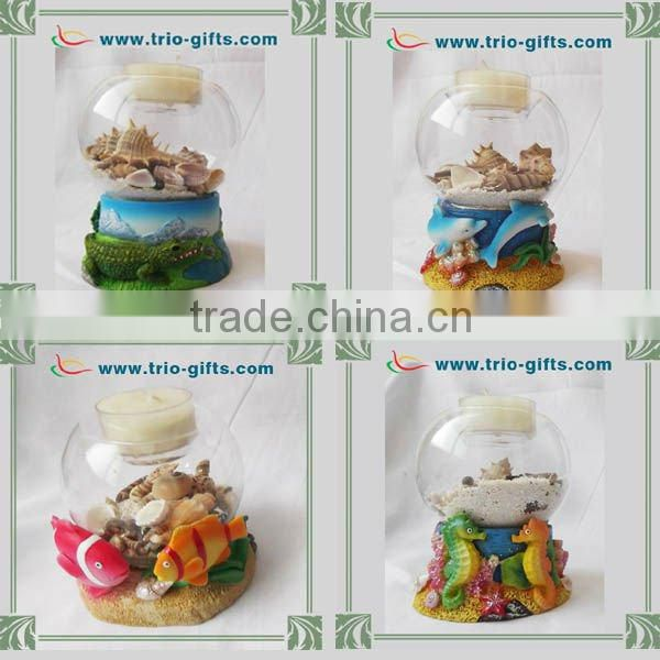 Souvenir gifts snow globe with dolphin