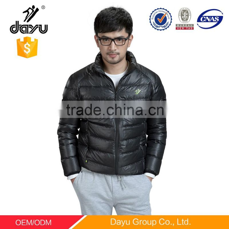 ultralight duck down jacket with hoods for men outdoor clothing man's black bomber jacket custom