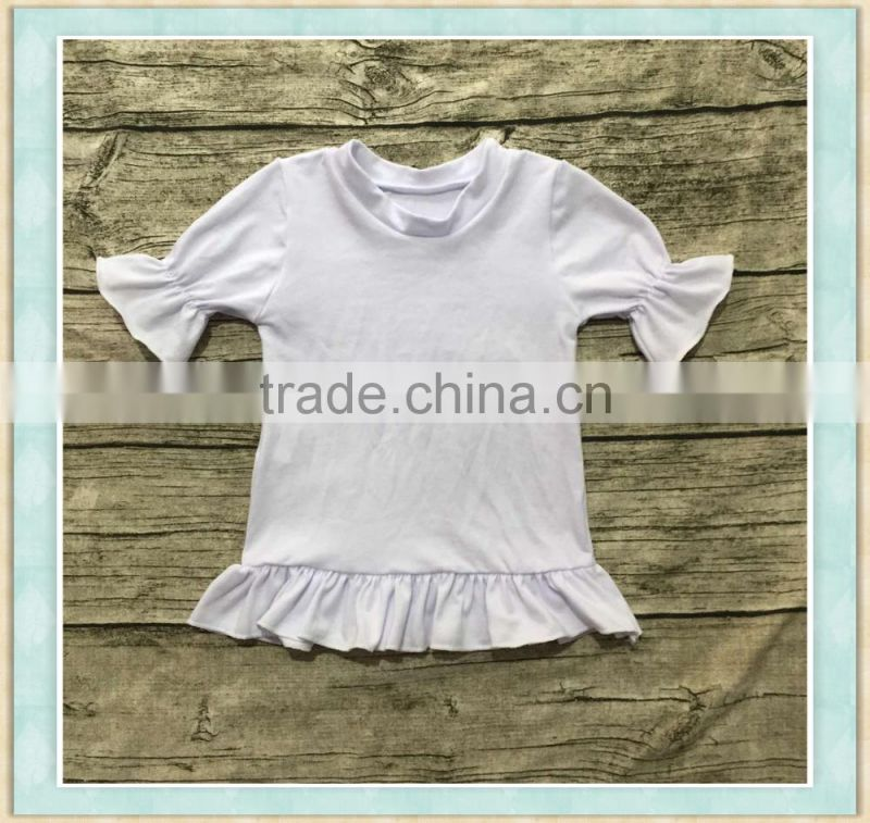 baby clothes wholesale custom t shirt printing pure little girls fultter sleeve real picture polo apparel