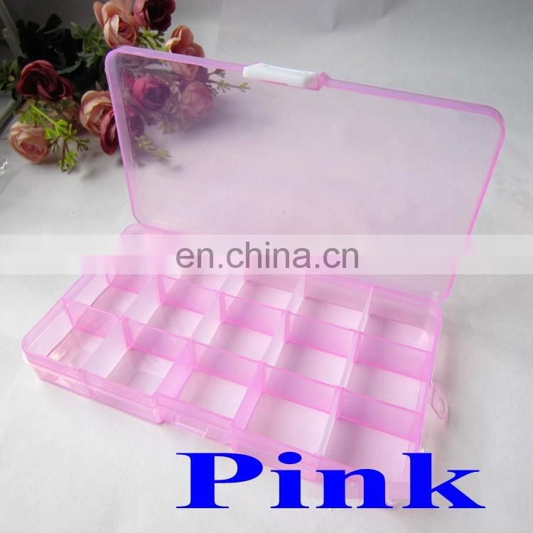 15 Grids Storage box plastic jewelry box plastic