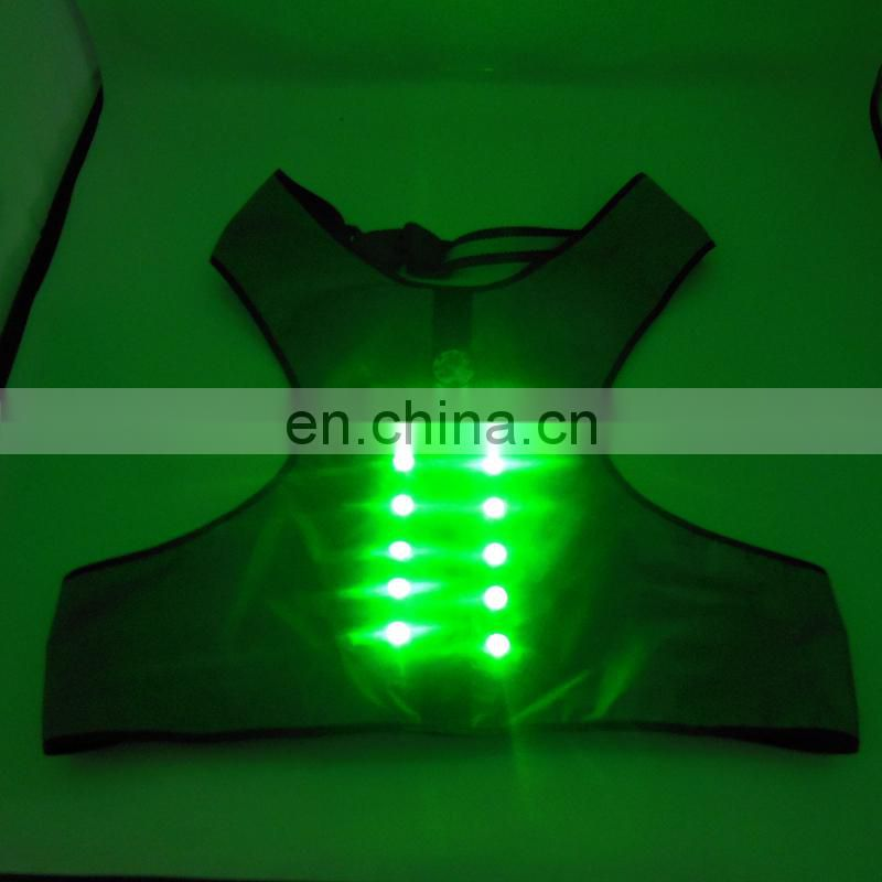 Best quality rechargeable flashing pet clothes LED Flashing Nylon Webbing Ribbon Dog Clothes lovable dogs dog clothes