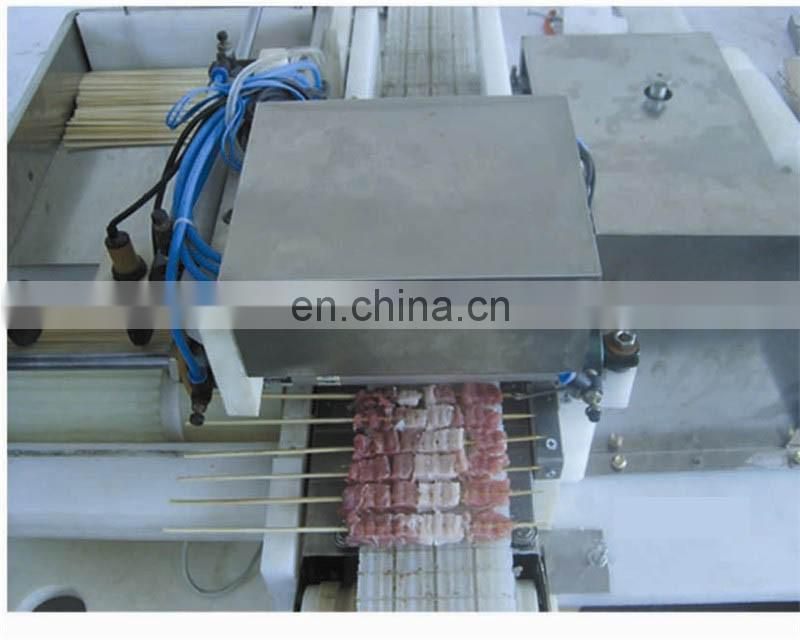 Good Quality Kebabs Meat String Machine/ Automatic Meat Wearing Machine