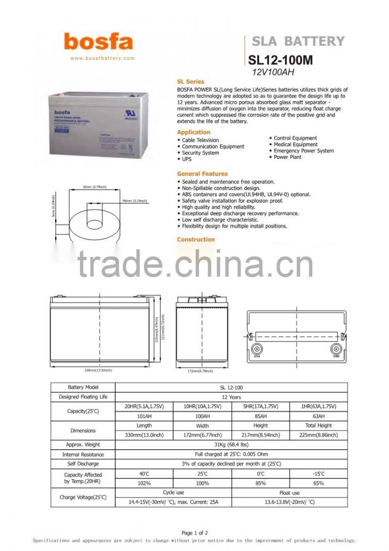 12v 10000mah deep cycle battery 100ah agm battery supplier toy battery