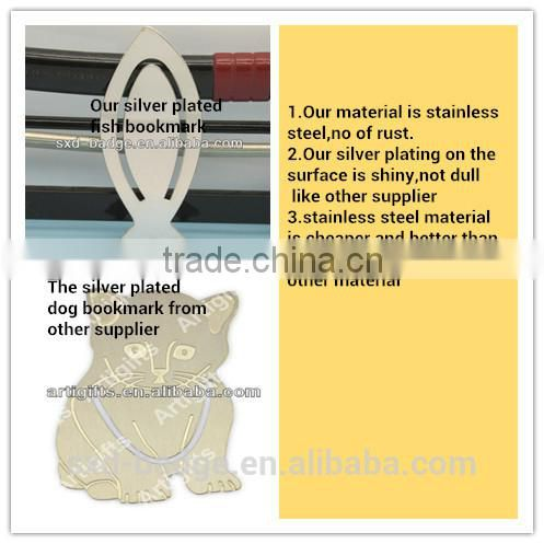 2015 steel Bookmark cute hollow out cartoon Christian bookmark for kids