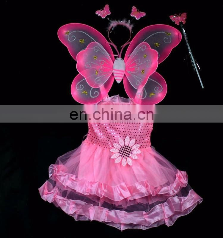 wholesale fresh chicken custom metal pilot wings pin badge Rose Silk Butterfly Wing Set