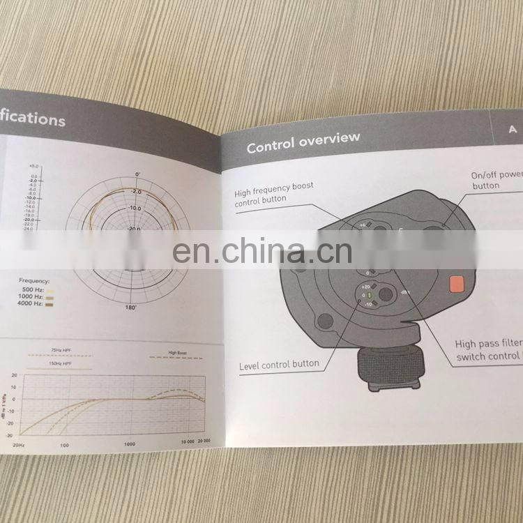 High quality paper perfect binding brochure printing design