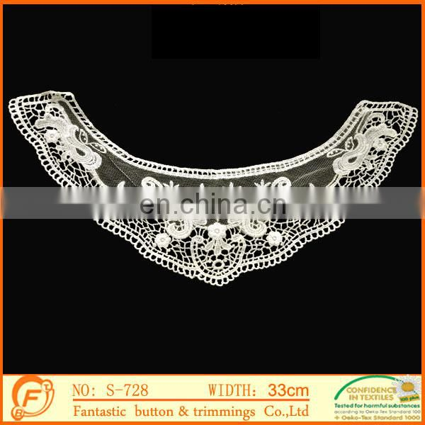 new fashion polyester collar trim for clothes decoration in black color