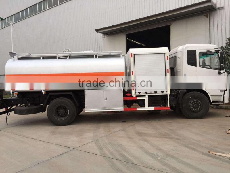 Aluminium / Carbon steel / stainless steel 5mm / 6mm Fuel Tank 14m3 Dongfeng Oil Storage Tank Truck
