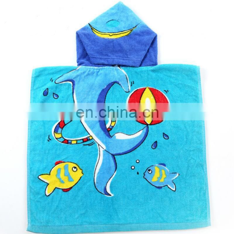 Cheap Kids Poncho Children 100 Cotton Lovely Animal Hooded Baby Bath Towels