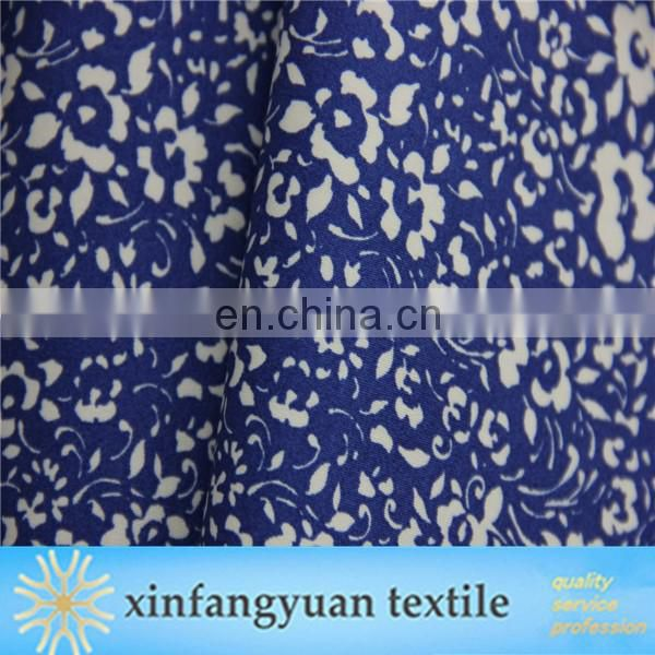 New design woven printed cotton spandex satin fabric