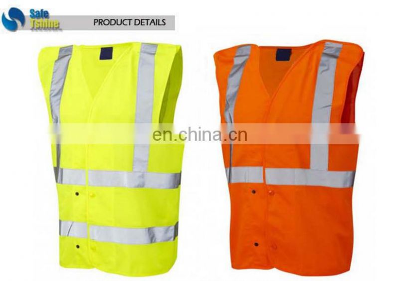 High Visibility plus size waterproof fluorescent reflective economic safety vest