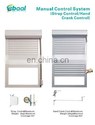 french style white color kitchen cabinet roller shutter