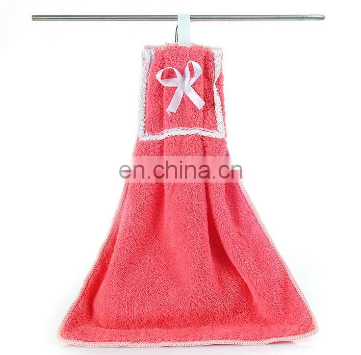 Super soft water absorption coral fleece kitchen towel