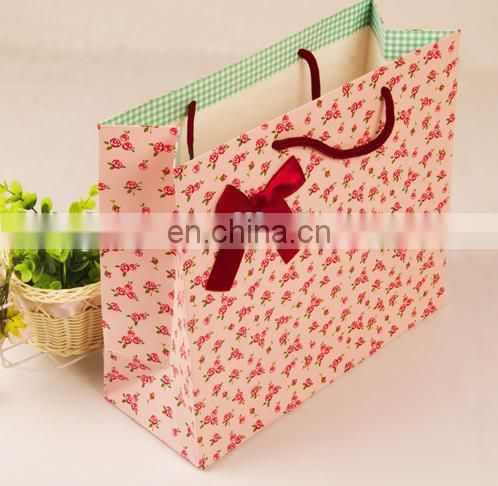 2015 High quality Branded Retail Paper bag with full color print
