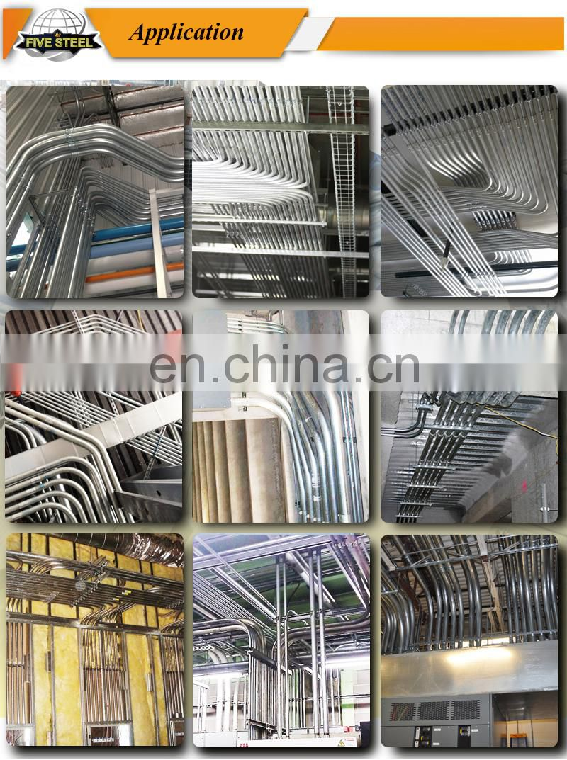 19.05mm 38mm galvanized steel conduit pipe