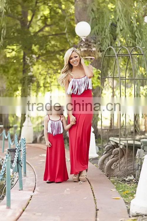 2015 new style kids boutique dress baby girl summer maxi dress chidren cotton long maxi dress