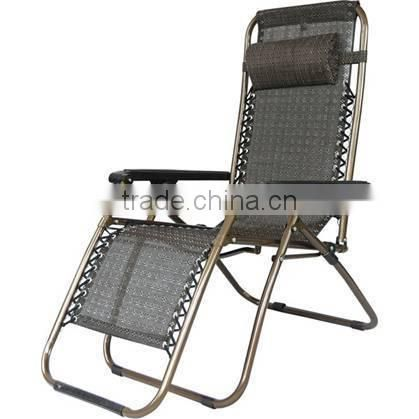 Foldable 600D oxford garden chair/sun deck chair with pillow