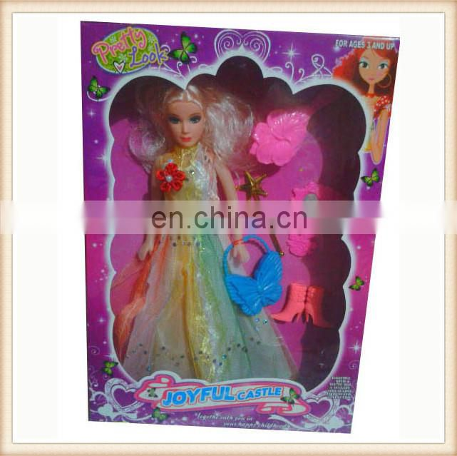 11' plastic toy girl princess doll