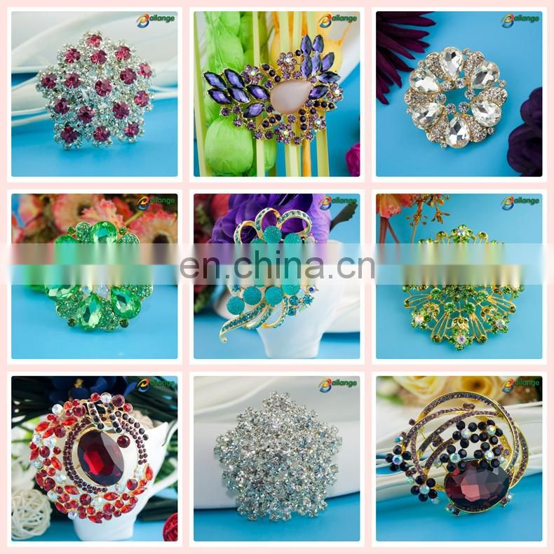 Women evening dress accessories high quality rhinestone brooch