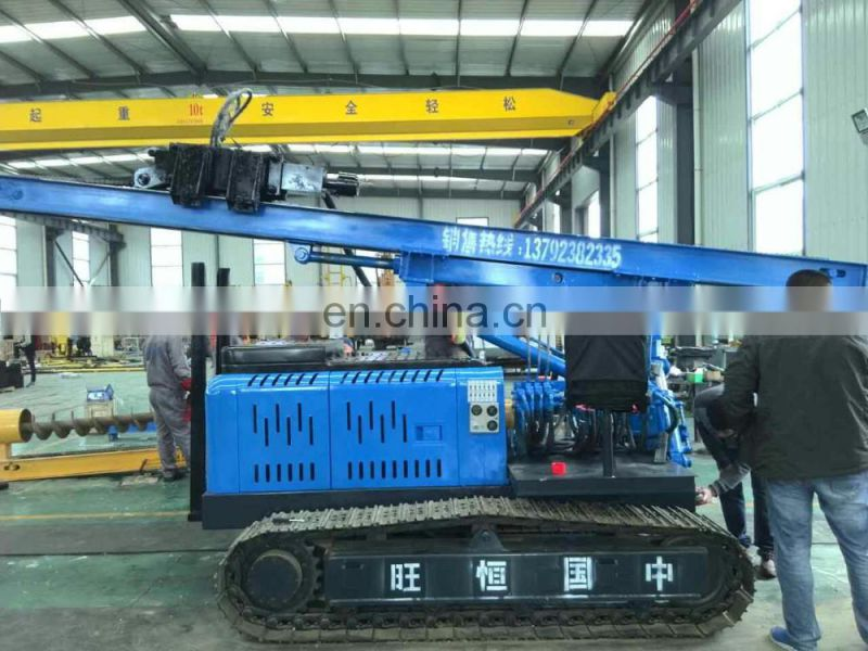 HENGWANG helical ground screw pile driver price