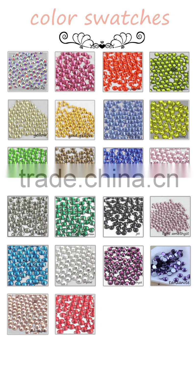 wholesale new deals round ss3-30light siam flatback no mail exquisite glass crystal rhinestone for nail art