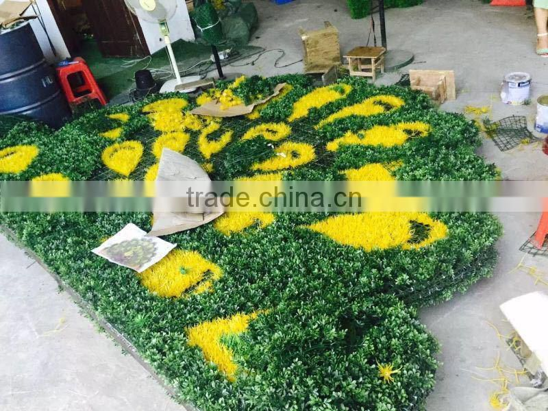 artificial plastic peacock for decoration fake garden green sculpture