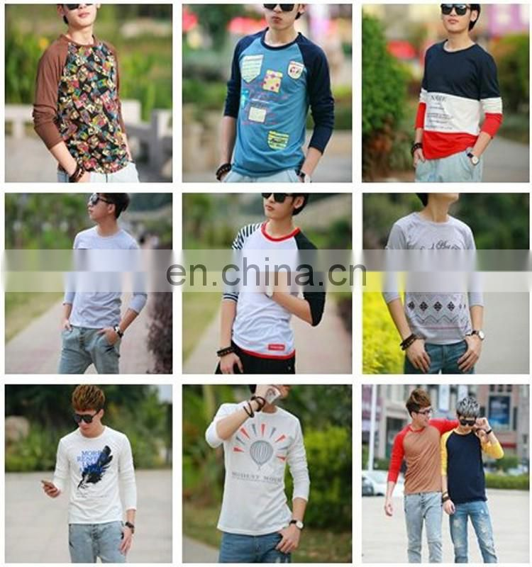 Peijiaxin Fashion Design Wholesale Custom All Over Print Plain Long Sleeves Cotton T-shirt