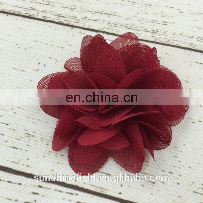 chiffon flower layered flower for headband dress sadals and other decoration