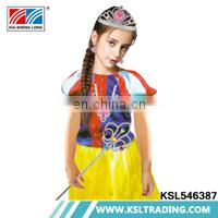 Girls high quality wholesale costumes princess dress with crown