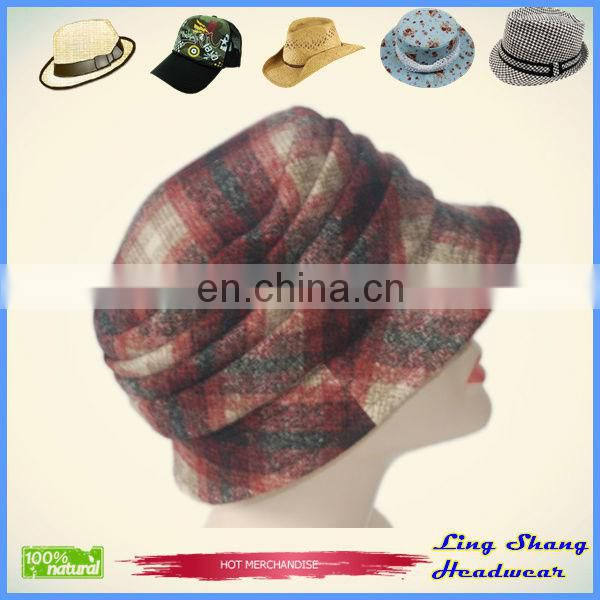 New Style Lady Woman Woolen Blend Fashion Hat Bucket Hat