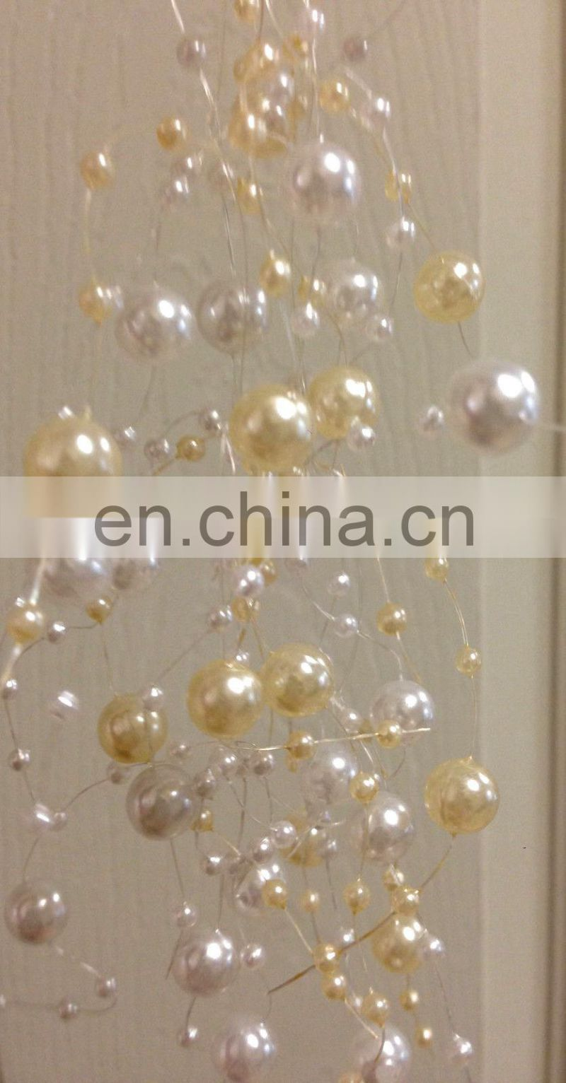 Ivory White Pearl Garland Wedding Table Decor
