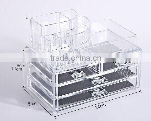 Clear acrylic make up organizer wholesale