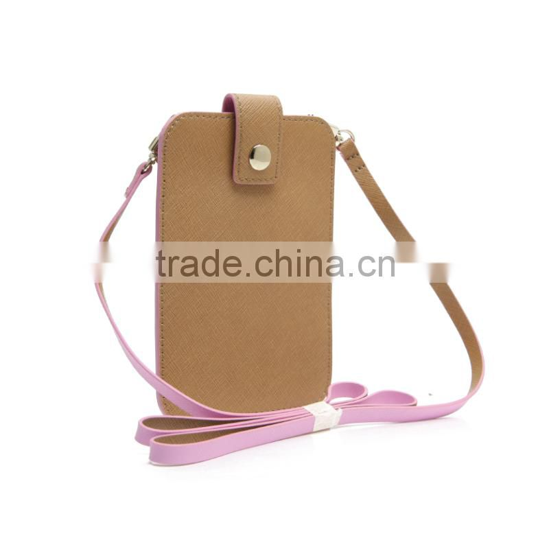 CSS1368-001 Fashionable mini leather coin purse cheap mobile phone case women crossbody bag