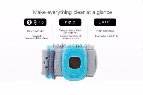 real-time monitor smart baby thermometers, Promotional cheap most popular baby temperature bracelet
