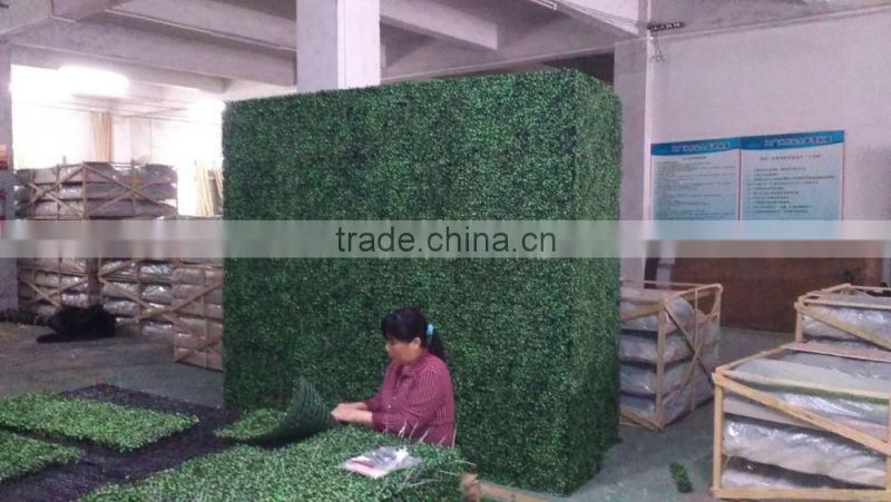 outdoor artificial boxwood hedge hot sale with milan grass for decoration
