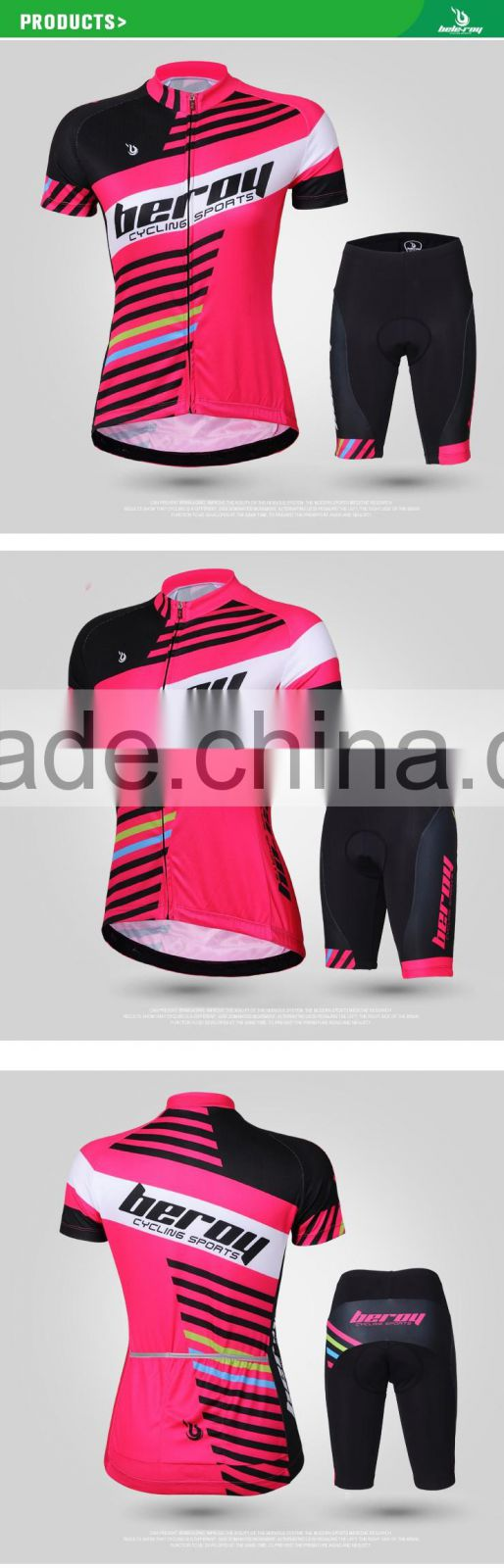 BEROY wholesale cheap bright cycing jersey for women