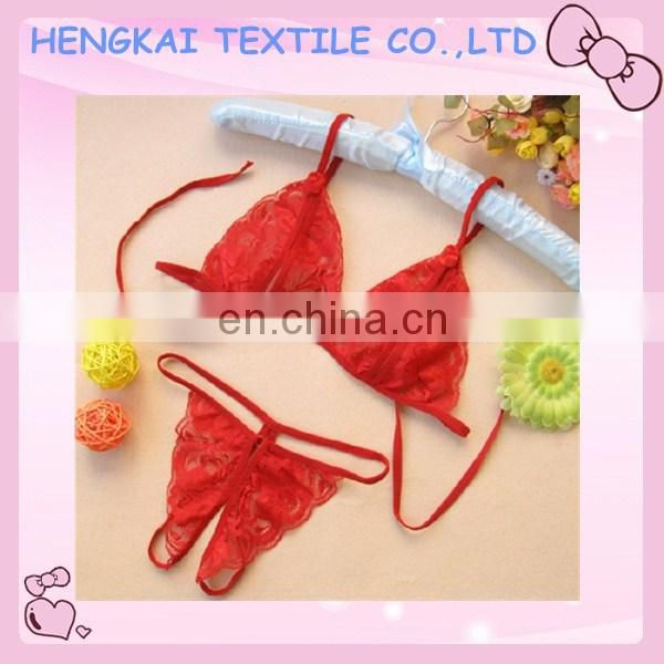 2017 Hot selling unique wholesale open front cheap price lady transparent lace bra and panty set