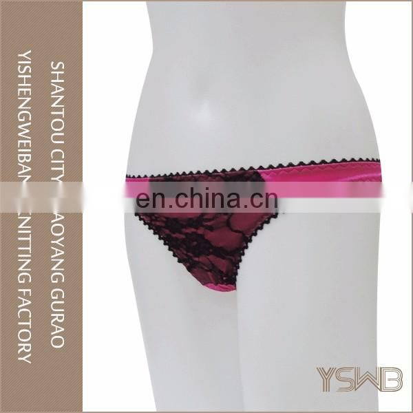 Wholesale various colors thong lace quick dry cute black girls in panties