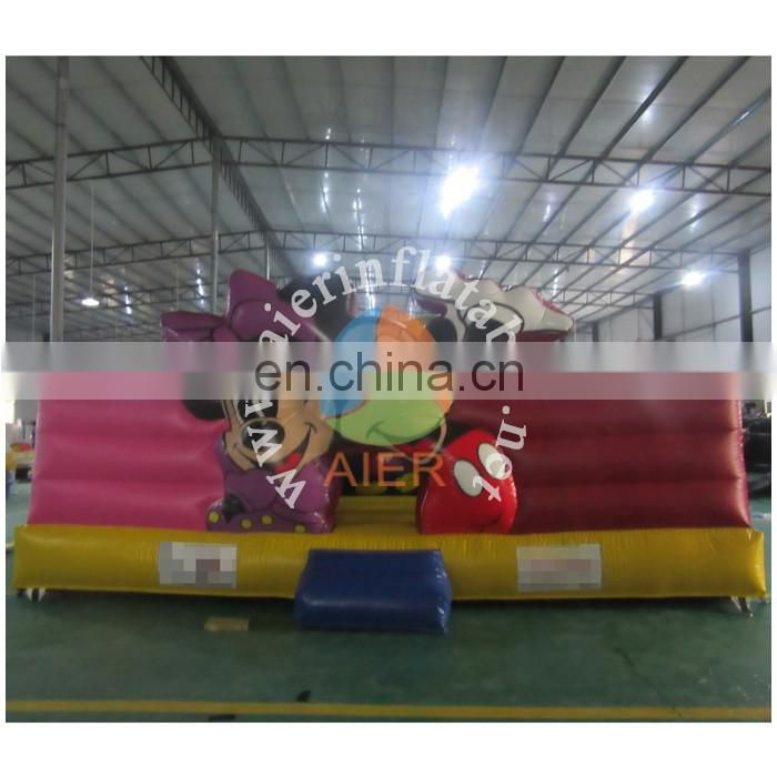 2016 Aier guangzhou Mickey Mouse inflatable large bouncy combo /Mickey mouse painting inflatable funland