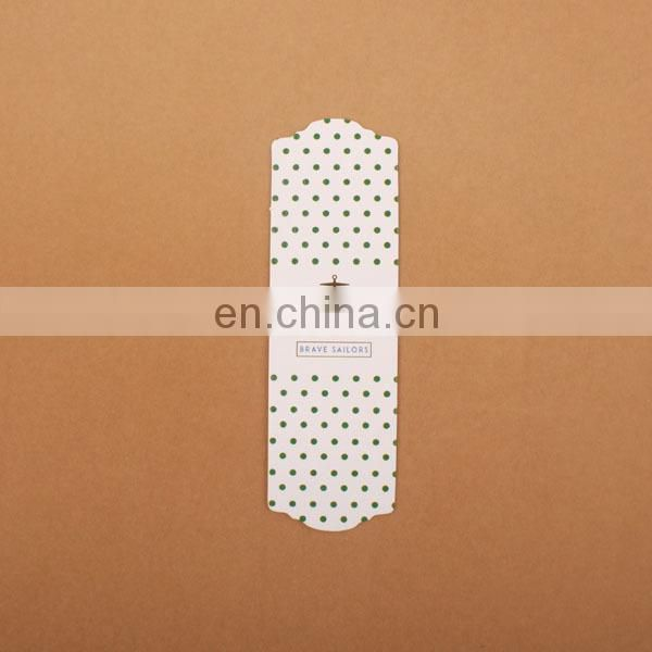 High quality and low price promotional paper bookmarks